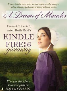 When a suspicious outsider with a shadowy past comes crashing into Amish widow Mattie's fragile world, can she learn to love again? Find out in Ruth Reid's new book, A Dream of Miracles.