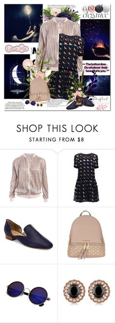 """,,The world is full of magical things patiently waiting for our wits to grow sharper..."""" by purplecherryblossom ❤ liked on Polyvore featuring Sans Souci, GUESS, Lattori, Michael Kors, MICHAEL Michael Kors, Allurez and Cartier"
