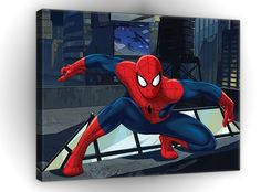 CANVAS PRINT PHOTO PICTURE (PPD524O1) 100x75cm Marvel Spiderman Boys Bedroom in Art, Canvas/Giclee Prints | eBay