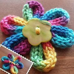 Strickliesel-Blume - Stricken ist so einfach wie 3 Das Stricken läuft auf. Strickliesel-Blume - Knitting is as easy as 3 Knitting boils down to three essential skills. Spool Knitting, Knitting For Kids, Knitting Stitches, Knitting Projects, Crochet Projects, Knitting Patterns, Sewing Projects, Crochet Patterns, French Knitting Ideas