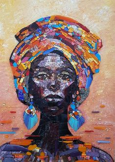 African Queen by Kirsten Jonas - Based on an original painting by Anastasiya Valiulina.
