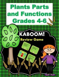 This fun KABOOM! Review game is a great way for students to study plant parts and functions! $
