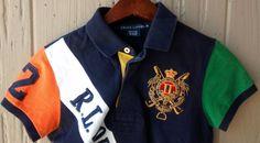 Ralph Lauren Girl's Banner Striped Rugby Polo Short Sleeves Shirt Medium M #RalphLauren #Everyday