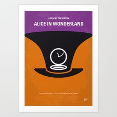 No140 My Alice in Wonderland minimal movie poster Art Print by Chungkong - $18.00