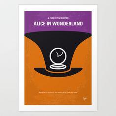 No140 My Alice in Wonderland minimal movie poster Art Print by Chungkong - $18.00