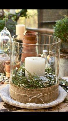 csak egy pici az üveg alján Burlap candle holder