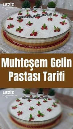 Most current Photo healthy Cake recipe Ideas - yummy cake recipes Healthy Cake Recipes, Dessert Recipes, Cake Recipe For Decorating, Brides Cake, Breakfast Toast, Amazing Wedding Cakes, Coconut Macaroons, Turkish Recipes, Food Cakes