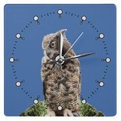 Great Horned Owl Clocks