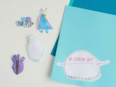 DIY stickers! Turn favorite doodles, patterned paper and photos into old-fashioned, lick-and-stick stickers with a simple homemade sugar glue. http://to.pbs.org/1NgdTDA