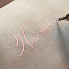 Calligraphy Letters Alphabet, Copperplate Calligraphy, Calligraphy Words, How To Write Calligraphy, Calligraphy Handwriting, Typography Letters, Monogram Letters, Penmanship, Calligraphy Course
