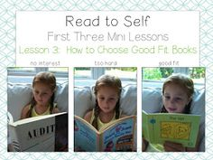 This website offers resources for mini-lessons of what the read-to-self portion of the daily 5 should look like. These images would be throughout the room as reminders of the expectations of the activity. Guided Reading Activities, Teaching Reading, Teaching Ideas, Early Reading, First Grade Reading, Kindergarten Lesson Plans, Kindergarten Literacy, Daily 5, Third Grade Centers