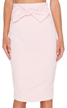 Pink pencil skirt with bow