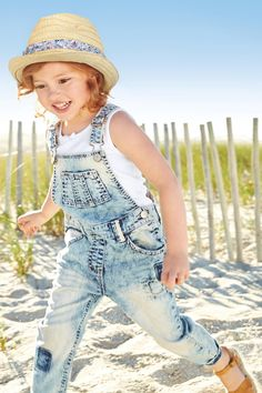 Buy Mid Blue Crochet Trim Dungarees (3mths-6yrs) from the Next UK online shop