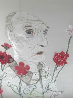 Textielcollages van Marieke Smink Textile Fiber Art, Free Machine Embroidery, Dutch, Stitching, Artists, Sewing, Face, Painting, Pictures