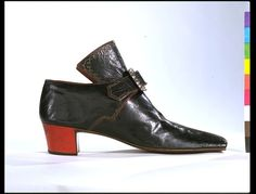 No details given, but I think red heels were popular in the late 1600s.