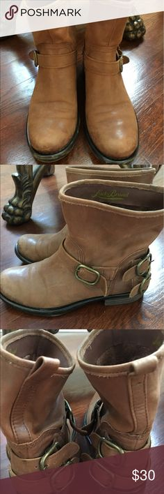 Lucky Brand Booties Light Brown Booties with Buckles Pull On Lucky Brand Shoes Ankle Boots & Booties
