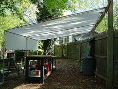 Creative Shelters -PVC and Tarp. Shade tent