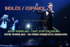 Justin Timberlake - Can't stop the feeling (letra y traducción) Justin Timberlake, Songs To Sing, Spanish, Singing, Movie Posters, Movies, Musica, Lyrics, 2016 Movies