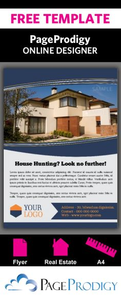 Borderless Flyer for Real Estate Professionals Highlight a - house for sale sign template