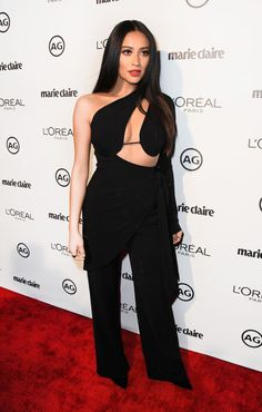 All the red carpet looks you need to see from Marie Claire's Second Annual Image Makers Awards  We're loving Shay Mitchell's cutout look.