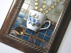 Blue Floral Teacup Mosaic Wall Art. $47.75, via Etsy.