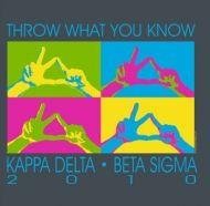 Colorful throw design for Kappa Delta & Beta Sigma recruitment! :o)