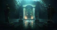 Nargothrond by jonathanguzi on DeviantArt - Gate of Nargothrond, after Turin convinced them to build a bridge - Silmarillion