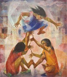 Vicente Silva Manansala (January 1910 - August was a Philippine cubist painter and illustrator. Manansala was born in. Filipino Art, Filipino Culture, Philippine Art, Philippines Culture, Exotic Beaches, Tropical Beaches, Contemporary Artwork, Art Database, Beautiful Paintings