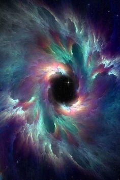 Vórtice multicolor escoltando un posible atajo entre mundos distantes.