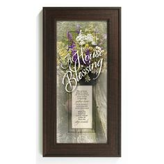 House Blessing - May Our Home Framed Graphic Art