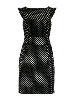 Black Little Black Dress - Polka Dot Shift Dress | UsTrendy