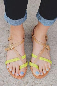 517d0068462a63 amazon guarantee Neon Strappy Sandals Archer-61x – UOIOnline.com  Women s  Clothing Boutique