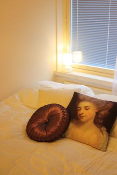 A lady in the bedroom