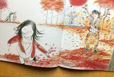 Se volete un libro che vi faccia innamorare dell'autunno correte a procurarvi l'ultimo libro illustrato da Suzy Lee e scritto da Bernard Waber.