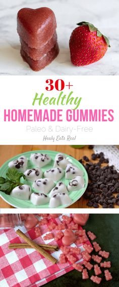 30+ Healthy Homemade Gummies (Paleo & Dairy-Free)--Make gelatin snacks and gummy bears with these creative recipes!
