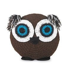 Free crochet owl cushion, just adorable. I want, I need! Thanks so for the share xox