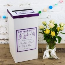 Heidi Design Personalised Wedding Postbox with Intricate Bird Cage Illustration