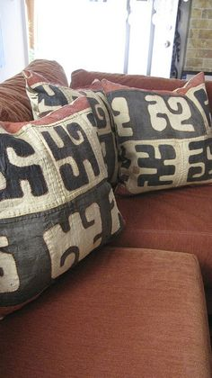 Kuba Cloth Pillows by Empress of The Eye