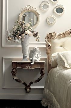 Home Interior Lighting The Luxury Italian Wall Fixing Bedside Table true classic beauty Interior Lighting The Luxury Italian Wall Fixing Bedside Table true classic beauty Villa Luxury, French Inspired Bedroom, French Bedroom Decor, Parisian Bedroom, Bedroom Classic, Luxury Bedroom Furniture, Luxury Bedding, Vintage Industrial Furniture, Rustic Furniture