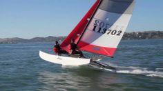 Hobie 16 sailing in San Francisco.