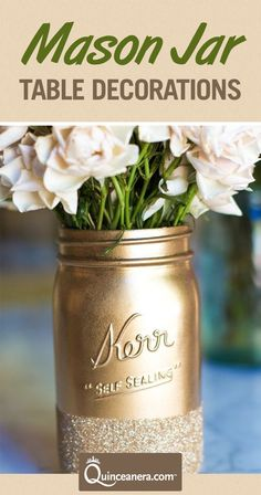 44 Mason Jar Crafts for Your DIY Wedding 21 Incredibly Gorgeous Mason Jar Crafts for Your Wedding. DIY wedding decorations can still be stunning! Have the wedding of your dreams on a budget with DIY mason jar decorations for weddings. Pot Mason Diy, Mason Jar Crafts, Glitter Mason Jars, Ideias Diy, Diy House Projects, Nouvel An, Diy And Crafts, Crafty, Wedding Ideas