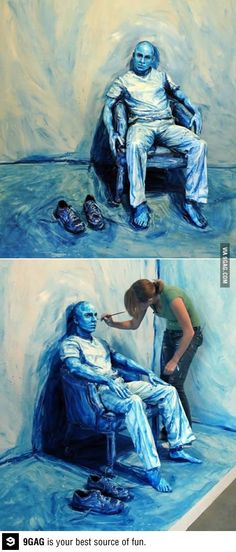 """Blue Print"". Artist: Alexa Mead. Painting real people."