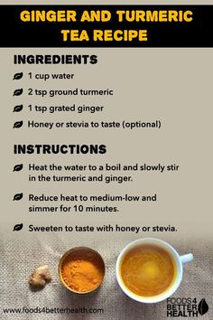 Ginger Turmeric Tea: Know its Nutrition Facts, Health Benefits, and Recipes Ginger and tumeric tea Tumeric Tea Recipe, Turmeric Recipes, Turmeric Tea, Healthy Detox, Healthy Juices, Healthy Smoothies, Healthy Drinks, Anti Inflammatory Recipes, Health And Nutrition