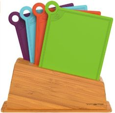 Vremi Plastic Cutting Board Set - 4 Kitchen Cutting Boards Dishwasher Safe with Holder Stand and Color Coded Design for Meat Vegetables and Fish - Small Colorful Chopping Boards in BPA Free Plastic Best Cutting Board, Plastic Cutting Board, Cutting Boards, Chopping Boards, Kitchen Items, Kitchen Dining, Kitchen Gadgets, Specialty Knives, Cooking Gadgets