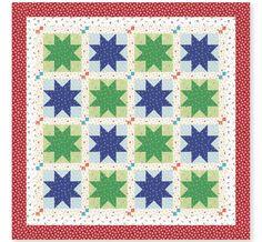 FREE Quilt Pattern: Confetti Star Quilt