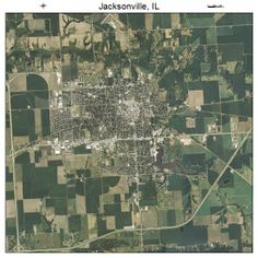 Jacksonville, IL air photo map