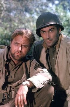 Cast from Combat: Vic Morrow & Rick Jason