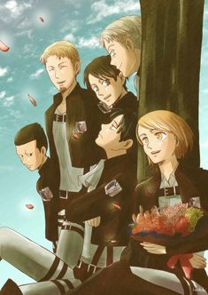 Levi squad | AoT | cred.kazehiki Ereri, Levi Squad, Real Anime, Levi Ackerman, Manga Games, Dream Team, Fantasy World, Me Me Me Anime, Attack On Titan