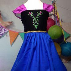 Anna Dress-princess, Anna, dress up, Halloween, coronation, Frozen, Character, Holiday, Party, Costume