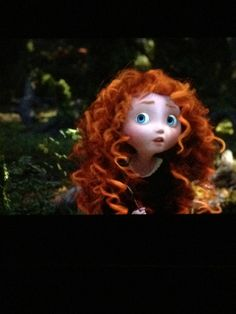 Merida as a little girl, already an inquisitive girl and utterly adorable!